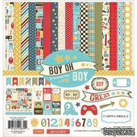 Набор двусторонней бумаги Carta Bella - Boy Oh Boy - Collection Kit, 30х30 см