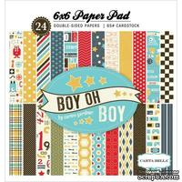Набор двусторонней бумаги Carta Bella - Boy Oh Boy - Paper Pad, 15х15 см