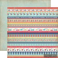 Лист двусторонней скрапбумаги Carta Bella Rough And Tumble - Border Strips Paper, 30х30 см