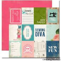 Лист двусторонней скрапбумаги Carta Bella - Sew Fun, Sew Lovely, 30х30 см