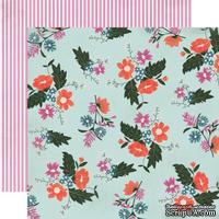 Лист скрапбумаги от Echo Park - Wildflower Floral, 30х30 см