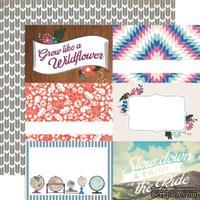 Лист скрапбумаги от Echo Park - 4x6 Journaling Cards -Wildflower, 30х30 см