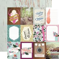 Лист скрапбумаги от Echo Park - 3x4 Journaling Cards - Wildflower, 30х30 см