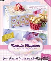 Шаблон-трафарет от  Crafters Companion -Cupcake Templates Collection - Four Cupcake Presentation Box