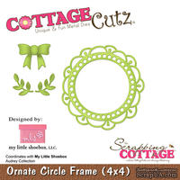 Лезвие CottageCutz - Ornate Circle Frame, 10х10 см, коллекция My Little Shoebox