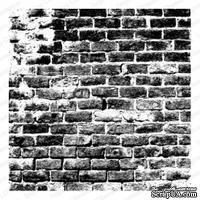 Резиновый штамп от Impression Obsession - Cover-a-Card Distressed Brick -Кирпичная стена