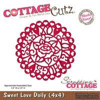 Лезвие CottageCutz - Sweet Love Doily (4x4)