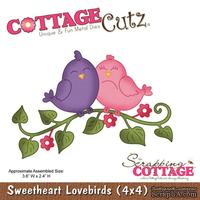 Лезвие CottageCutz - Sweetheart Lovebirds (4x4)