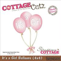Лезвие CottageCutz - It's A Girl Balloons