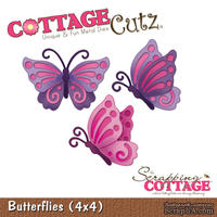Лезвие CottageCutz - Butterflies, 10х10 см