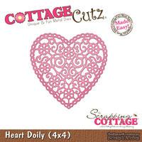 Лезвие CottageCutz - Heart Doily, 10х10 см
