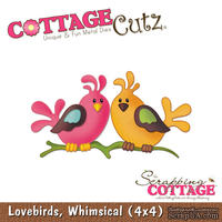 Лезвие CottageCutz - Lovebirds, 10х10 см
