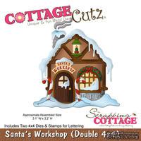 Лезвие CottageCutz - Santa's Workshop, 2 штуки 10х10 см и штампы с буквами