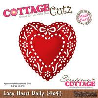 Лезвие CottageCutz - Lacy Heart Doily, 10х10 см