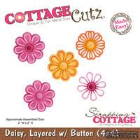 Лезвие CottageCutz - Daisy, Layered w/ Button, 10х10 см