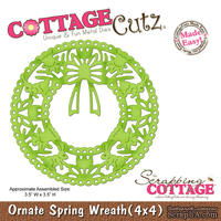 Лезвие CottageCutz - Ornate Spring Wreath, 10х10 см - ScrapUA.com