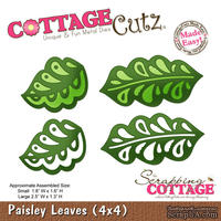 Лезвие CottageCutz - Paisley Leaves, 10х10 см