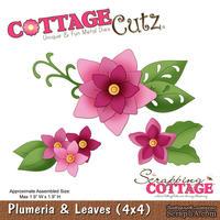 Лезвие CottageCutz - Plumeria & Leaves, 10х10 см