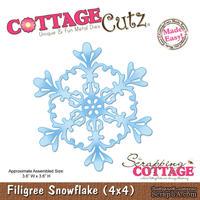 Лезвие CottageCutz Filigree Snowflake, 10х10 см