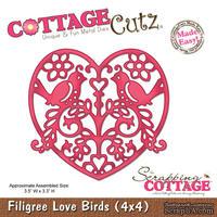 Лезвие CottageCutz - Filigree Love Birds, 10х10 см
