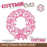 Лезвие CottageCutz - Fancy Filigree Wreath, 10х10 см