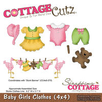 Лезвие CottageCutz - Baby Girls Clothes, 10х10 см