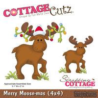 Лезвие CottageCutz Merry Moose-mas, 10х10 см