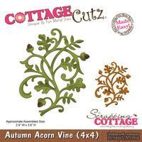Лезвие CottageCutz Autumn Acorn Vine, 10х10 см