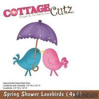 Лезвие CottageCutz Spring Shower Lovebirds (4x4)