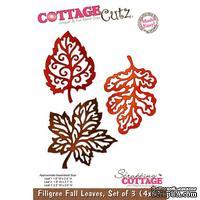 Лезвие CottageCutz - Filigree Fall Leaves, набор из 3 штук, 10х15 см