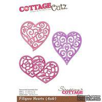 Лезвие CottageCutz - Filigree Hearts, 10х15 см