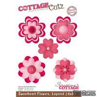 Лезвие CottageCutz - Sweetheart Flowers, Layered, 10х15 см