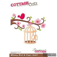 Лезвие CottageCutz - Whimsy Bird & Cage, 10х15 см
