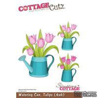 Лезвие CottageCutz - Watering Can, Tulips, 10х15 см