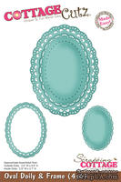 Лезвие CottageCutz - Oval Doily & Frame, 10х15 см