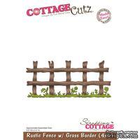 Лезвие CottageCutz Rustic Fence w/ Grass Border, 10х15 см