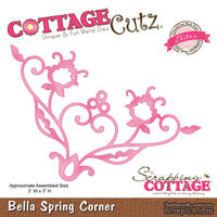 Лезвие CottageCutz Bella Spring Corner (Elites)