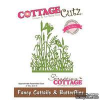 Лезвие CottageCutz Fancy Cattails & Butterflies (Elites)