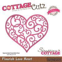 Лезвие CottageCutz - Flourish Love Heart (Elites)