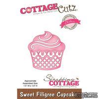 Лезвие CottageCutz - Sweet Filigree Cupcake (Elites)