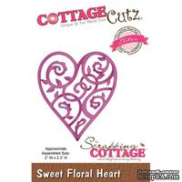 Лезвие CottageCutz - Sweet Floral Heart (Elites)