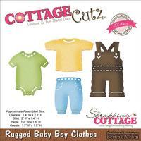 Лезвие CottageCutz - Elites Die - Rugged Baby Boy Clothes