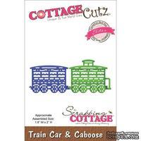 Лезвие CottageCutz - Elites Die - Train Car & Caboose