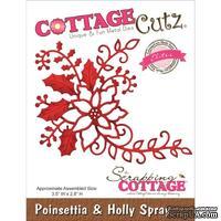 Лезвие CottageCutz - Poinsettia & Holly Spray