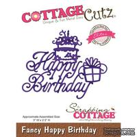 Лезвие CottageCutz - Fancy Happy Birthday
