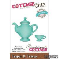 Лезвие CottageCutz - Petites Die - Teapot and Teacup