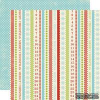 Лист скрапбумаги Lily Bee Design - Figgy Pudding, 30х30 см, двусторонняя