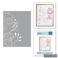 Папка для тиснения от Spellbinders - Rose Flourish Cut and Emboss Folder
