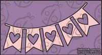 Чипборд. Флажки с сердцами, cb-342