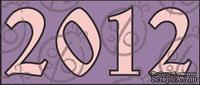 """Чипборд Надпись """"2012"""", №1."""